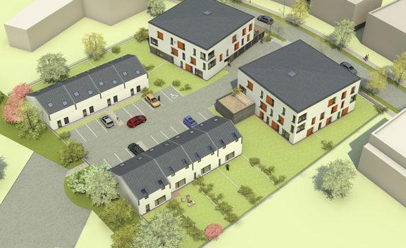 22 logements collectifs et 8 maisons individuelles