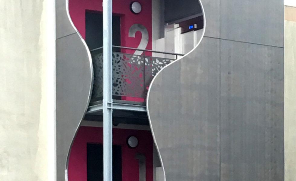 L'ascenseur réalisé en 2016